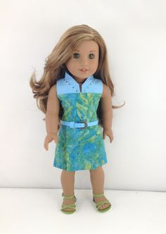 18T Uptown Girl - Dress and Sandals for American Girl like Lea, Grace, Gabriela, Isabelle, McKenna, Saige, Rebecca, Kit and Julie by MjsDollBoutique18T on Etsy