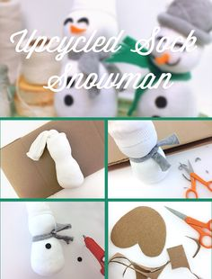 Give that unmatched sock new life with this easy snowman craft you can make with the kids, inspired by the #Ziploc #HolidayCollection.