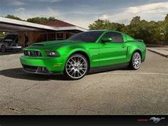 Lime Green Mustang GT....sooo getting this someday!!! <3
