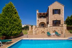 3 Bedroom, 3 Bathrooms, 3mins from the Beach, Panoramic View, Peaceful Location Afrate Villas to rent in Kokkino Chorio, Apokoronas, Chania, Crete.One of the most interesting and unique in the field of tourism , are Afrate villas, which outstandinglydo