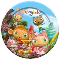 waybuloo party paper plates 23cm £2.55 8pk