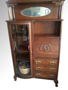SOLD Antique Oak Side By Secretary Desk Larkin