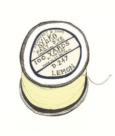 Vintage Cotton Reel, I want to embroider you!