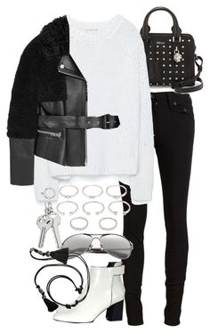 """""""Untitled #7605"""" by nikka-phillips ❤ liked on Polyvore featuring rag & bone/JEAN, Forever 21, Alexander McQueen, Zara, Proenza Schouler, Bobbi Brown Cosmetics, Lanvin and Burberry"""