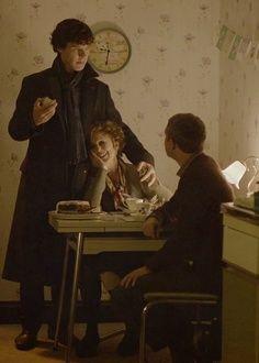 """Shame on you, John Watson."" ""On me? What did I do?"" ""Mrs. Hudson leave Baker Street? England would fall."""