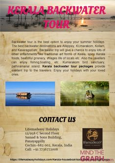 Kerala backwaters are always special to the travelers. Alleppey, Kumarakom, Kollam and Kasaragod etc are some of the backwater locations in Kerala.  Backwaters trip will give an excellent experience to each and every traveler.  The lush greenery, cooling climate, traditional spicy Kerala foods are top attractions of houseboat journey.