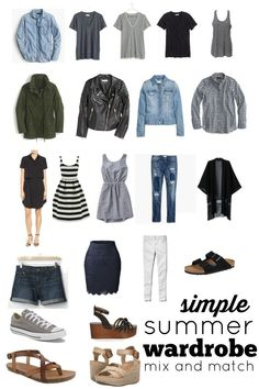 Do you have a closet full of clothes, but have trouble getting dressed each day? Do you struggle to find clothes you love that work within your budget? We've taken all the guesswork out of shopping for clothes. We've created this simple, stylish, budget Capsule Wardrobe Mom, Summer Wardrobe, Wardrobe Closet, Summer Minimalist, Minimalist Wardrobe, Minimalist Fashion, Wardrobes, Get Dressed, What To Wear