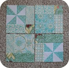 This is a fun and easy block that measures 13″ {finished} and has lots of options to mix and match prints and solids.  I made mine out of leftover charm squares, but the size could easily be …