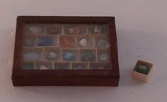 Mineral Display #2 by Tanaka Reiko - $68.00 : Swan House Miniatures, Artisan Miniatures for Dollhouses and Roomboxes
