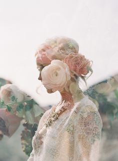 Double exposure from my shoot In Oregon with Emily Riggs bridal, tinge floral, and Beth level artistry