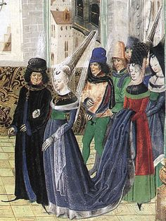 A Visit to the Humanist Writer, Metamorphoses d'Ovide. Unknown illuminator. Dated to before 1487, executed in Brughes or Ghent.