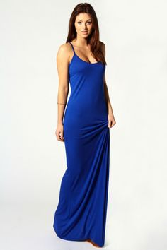 Hayley Strappy Scoop Neck Maxi Dress in lots of fun colors. #maxi #layer #fall #fashion #dress #outfit #blue #staple #wardrobe #long