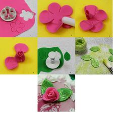 How to make a simple sugar rose with a 5-petal cutter.