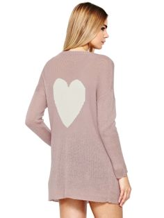 Love Label Heart Slouch Cardigan | very.co.uk