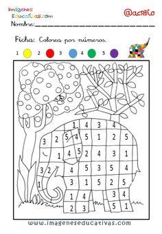 Elmer Elefante atención y grafo (2) - Imagenes Educativas