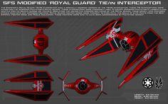 Royal Guard TIE/in Interceptor ortho [New] by unusualsuspex
