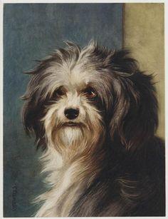 Hondekop by artist C. Watercolours, Museum, Dogs, Artist, Animals, Animales, Animaux, Pet Dogs, Artists