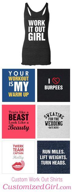 Custom Workout Shirts #workout #workoutshirts