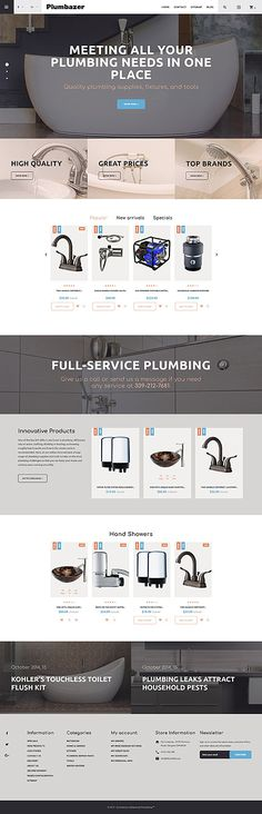 Plumbing Services & Online Store #Prestashop #template. #themes #business #responsive #webshop #Prestashopthemes