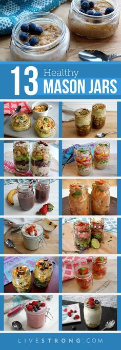 Because mason jar meals are so hot right now, we whipped up these 13 healthy options.