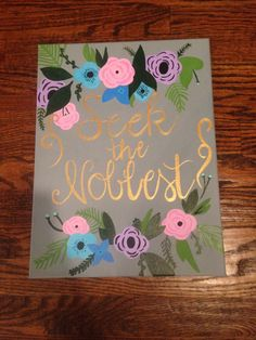 Seek the Noblest Canvas by wctrnds on Etsy