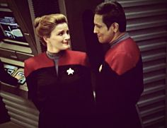"""would you have served under me?"" Janeway and Chakotay"