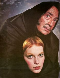Salvador Dali and Mia Farrow