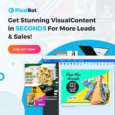 PixalBot is an AI-powered design software that is forever revolutionising the world of graphic design with automated design, editing, redesigning, styling, resizing, and scheduling of your visual content, putting power back in your hands. Marketing Software, Internet Marketing, Salad Shop, Bar Set Up, Summer Sale, Hands, Graphic Design, Content, Reading
