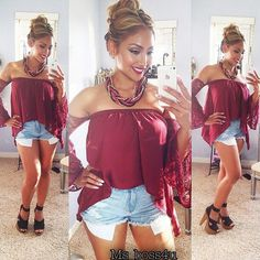 Love that top... Not with them shorts and heels though!