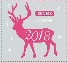 Grille gratuite de point de croix : Bonne année 2018 !