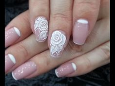 Дизайн ногтей. Лепка 4Dгелем Роза - YouTube