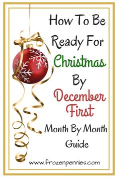 To Be Ready For Christmas By December First I am going to share with you my fail-proof system to get ready for Christmas and enjoy the holidays! It all starts on September first. Frugal Christmas, Christmas Planning, Christmas Preparation, All Things Christmas, Holiday Fun, Christmas Holidays, Christmas Decorations, Holiday Decorating, Merry Christmas
