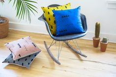 Bloesem living | Summer linen pillows by Cotton and Flax