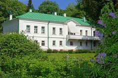 """Referred to by the writer as his """"inaccessible literary stronghold,"""" Yasnaya Polyana in Tula, Russia, was where Leo Tolstoy was born, wrote such novels as 'War and Peace' and 'Anna Karenina' was eventually buried. Architectural Digest, House Worth, Saint Sauveur, Leo Tolstoy, Anna Karenina, Great Ads, Amazing Buildings, Location, Great Photos"""