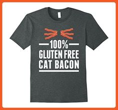 cb4f65149 Mens Gluten Free Cat Bacon Funny Cat Meme T-Shirt XL Dark Heather - Food  and drink shirts (*Partner-Link)