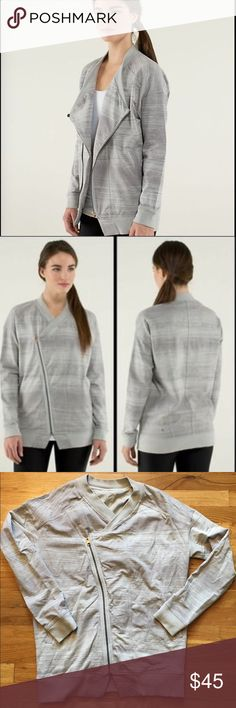 Lululemon wrap jacket This oversized jacket is great for keeping warm after yoga or a trip to the gym. Pairs well with a the lulu vinyasa scarf! lululemon athletica Jackets & Coats