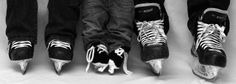 These are the Hockey Booties I make and sell on Etsy! :)  Would love your buisness! :D