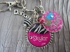 Dance Personalized keychain Dancer PERSONALIZED by SilverRapture, $22.00