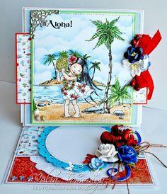 Mo Manning Tropical Beach Summer Card