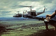 Bell UH-1 Iroquois (Huey) helicopters ~ Vietnam War