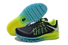 lowest price ea0d6 ca90d Buy New Nike Air Max 2015 Mens Shoes Grey   Black   Green   Blue Discount  from Reliable New Nike Air Max 2015 Mens Shoes Grey   Black   Green   Blue  ...
