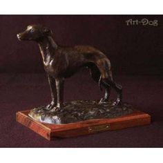 High standard handcrafted product from section Figurines associated with dog breed SighthoundWhippet- Sculpture made of Original Bronze on the woodenbase - LIMITED EDITION Origin:Statue from ART-DOG collection. Dog Lover Gifts, Dog Lovers, Whippet, Best Artist, Dog Supplies, French Bulldog, Bronze, Statue, The Originals