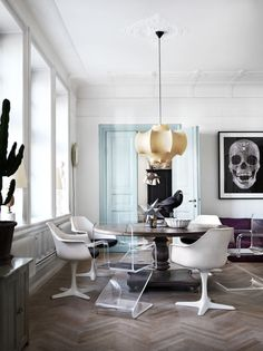 LIBERTYN interiors // modern eclectic dining room