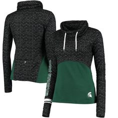 Michigan State Spartans Colosseum Women's Scaled Cowl Neck Pullover Hoodie…