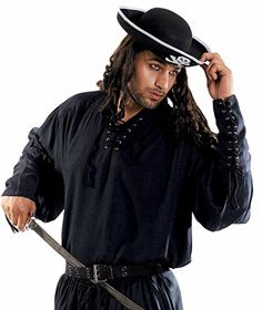 Medieval Poets Pirate John Coxon Shirt Costume Black SmallMedium ** ** AMAZON BEST BUY **