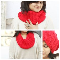 womens winter scarf, valentines day gift, fashion scarf, gift for her, fashion scarf, accessory, infinity, autumn fall, cowl scarf, women, teen, girls, gift, valentine day sale, red handknitted scarf, woman scarf, chunky red scarf, scarf in red, textured scarf, knit neckwarmer, chunky neck warmer, knit cowl, knit infinity scarf, loop scarf,