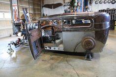 Ricky bobby's Rod Shop - The Hemi Project Jeep Rat Rod, Rat Rod Cars, Hot Rod Trucks, Pedal Cars, Custom Rat Rods, Custom Cars, Rat Rod Build, Hot Rod Pickup, Sweet Cars