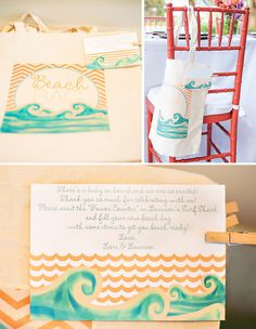 """""""There's a Baby on Board!"""" Surfing Themed Baby Shower // Hostess with the Mostess®"""