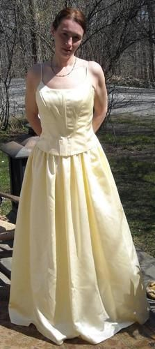 Scott McClintock Soft Yellow Formal Gown Size 14 Free Shipping Price:US $35.99