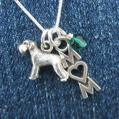 Sterling+Silver+Mini+Schnauzer+Mom+Necklace++by+DogParkPublishing,+$29.95